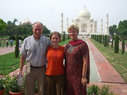 With Mom and Dad at the Taj Mahal