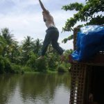 Jumping from the houseboat