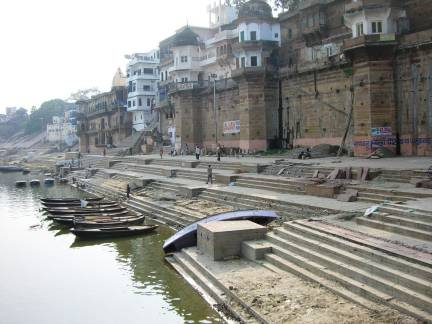The bathing ghats in Varanasi