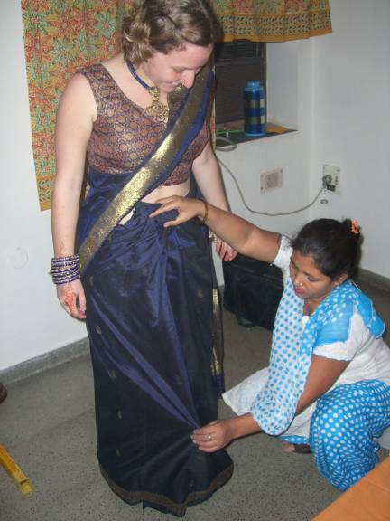 more sari wrapping...